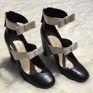 Black and White Bow Pumps